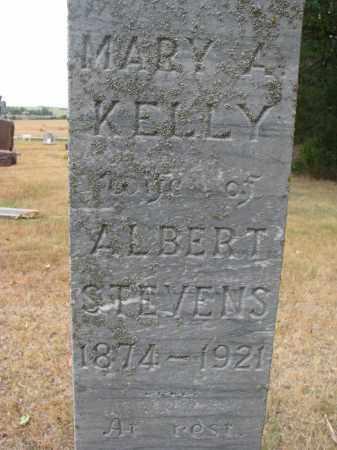 KELLY STEVENS, MARY A. (CLOSEUP) - Bon Homme County, South Dakota | MARY A. (CLOSEUP) KELLY STEVENS - South Dakota Gravestone Photos