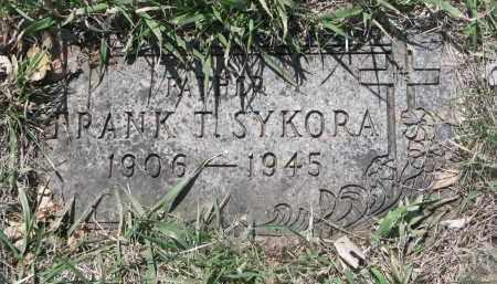 SYKORA, FRANK T. - Bon Homme County, South Dakota | FRANK T. SYKORA - South Dakota Gravestone Photos
