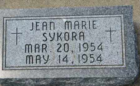 SYKORA, JEAN MARIE - Bon Homme County, South Dakota | JEAN MARIE SYKORA - South Dakota Gravestone Photos