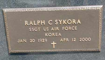 SYKORA, RALPH C. (MILITARY) - Bon Homme County, South Dakota | RALPH C. (MILITARY) SYKORA - South Dakota Gravestone Photos