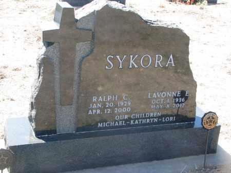 SYKORA, RALPH C. - Bon Homme County, South Dakota | RALPH C. SYKORA - South Dakota Gravestone Photos