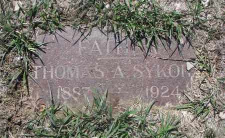 SYKORA, THOMAS A. - Bon Homme County, South Dakota | THOMAS A. SYKORA - South Dakota Gravestone Photos
