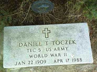 TOCZEK, DANIEL - Bon Homme County, South Dakota | DANIEL TOCZEK - South Dakota Gravestone Photos
