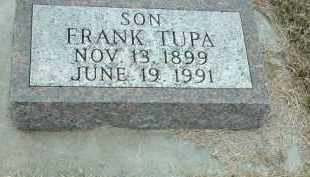 TUPA, FRANK - Bon Homme County, South Dakota | FRANK TUPA - South Dakota Gravestone Photos