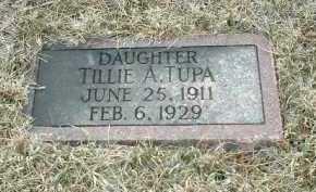 TUPA, TILLIE - Bon Homme County, South Dakota | TILLIE TUPA - South Dakota Gravestone Photos