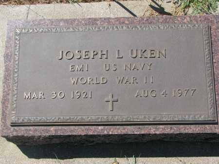 UKEN, JOSEPH L. - Bon Homme County, South Dakota | JOSEPH L. UKEN - South Dakota Gravestone Photos