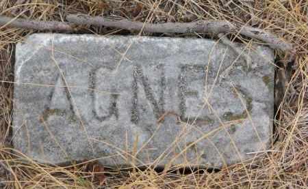 HUGHES, AGNES (FOOTSTONE) - Bon Homme County, South Dakota | AGNES (FOOTSTONE) HUGHES - South Dakota Gravestone Photos