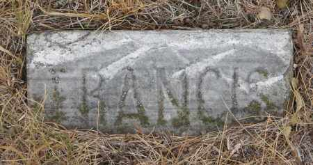 HALEY, FRANCIS (FOOTSTONE) - Bon Homme County, South Dakota | FRANCIS (FOOTSTONE) HALEY - South Dakota Gravestone Photos