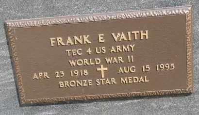 VAITH, FRANK E. (WW II) - Bon Homme County, South Dakota   FRANK E. (WW II) VAITH - South Dakota Gravestone Photos