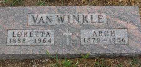 VAN WINKLE, ARCH - Bon Homme County, South Dakota | ARCH VAN WINKLE - South Dakota Gravestone Photos