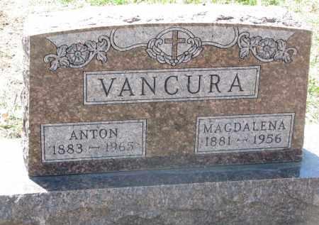VANCURA, ANTON - Bon Homme County, South Dakota   ANTON VANCURA - South Dakota Gravestone Photos
