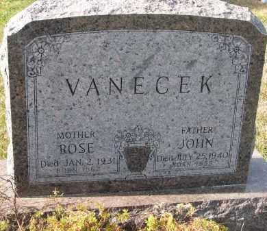 VANECEK, JOHN - Bon Homme County, South Dakota | JOHN VANECEK - South Dakota Gravestone Photos