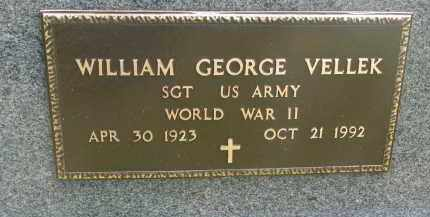 VELLEK, WILLIAM GEORGE (WW II) - Bon Homme County, South Dakota   WILLIAM GEORGE (WW II) VELLEK - South Dakota Gravestone Photos