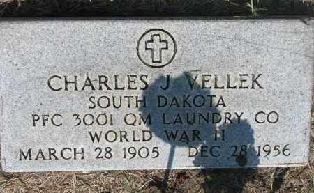 VELLEK, CHARLES J. (WW II) - Bon Homme County, South Dakota   CHARLES J. (WW II) VELLEK - South Dakota Gravestone Photos