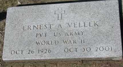 VELLEK, ERNEST A. (WW II) - Bon Homme County, South Dakota | ERNEST A. (WW II) VELLEK - South Dakota Gravestone Photos