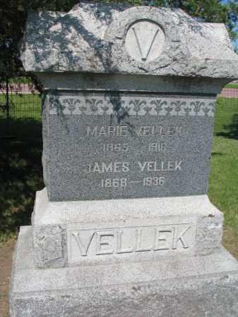VELLEK, JAMES - Bon Homme County, South Dakota | JAMES VELLEK - South Dakota Gravestone Photos