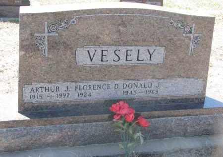 VESELY, ARTHUR J. - Bon Homme County, South Dakota | ARTHUR J. VESELY - South Dakota Gravestone Photos