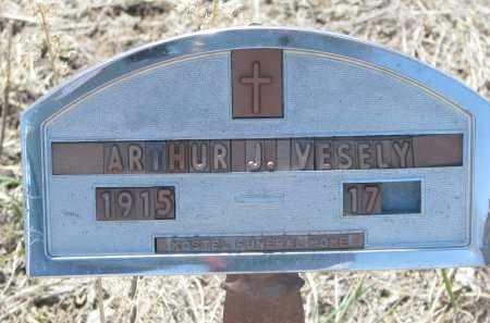 VESELY, ARTHUR J. - Bon Homme County, South Dakota   ARTHUR J. VESELY - South Dakota Gravestone Photos