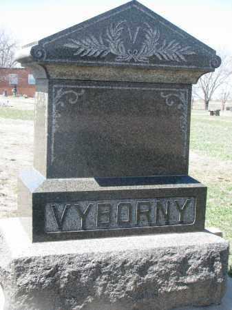 VYBORNY, PLOT STONE - Bon Homme County, South Dakota | PLOT STONE VYBORNY - South Dakota Gravestone Photos