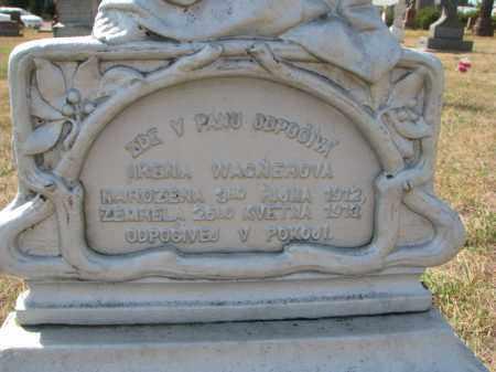 WAGNEROVA, IRENA (CLOSEUP) - Bon Homme County, South Dakota | IRENA (CLOSEUP) WAGNEROVA - South Dakota Gravestone Photos