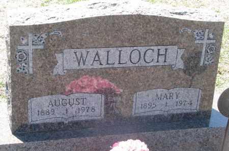 WALLOCH, AUGUST - Bon Homme County, South Dakota | AUGUST WALLOCH - South Dakota Gravestone Photos