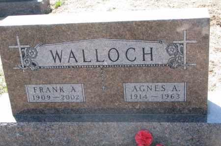 WALLOCH, AGNES A. - Bon Homme County, South Dakota | AGNES A. WALLOCH - South Dakota Gravestone Photos