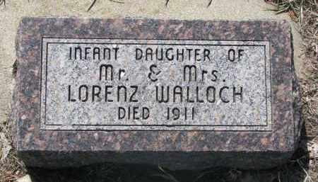 WALLOCH, INFANT DAUGHTER - Bon Homme County, South Dakota | INFANT DAUGHTER WALLOCH - South Dakota Gravestone Photos
