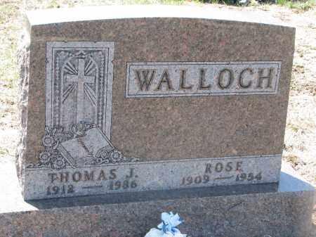 WALLOCH, ROSE - Bon Homme County, South Dakota | ROSE WALLOCH - South Dakota Gravestone Photos