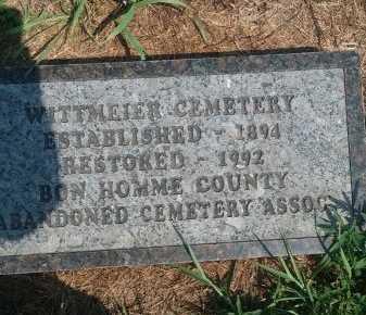 *WHITTMEIER, CEMETERY - Bon Homme County, South Dakota   CEMETERY *WHITTMEIER - South Dakota Gravestone Photos