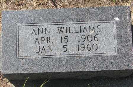 WILLIAMS, ANN - Bon Homme County, South Dakota | ANN WILLIAMS - South Dakota Gravestone Photos