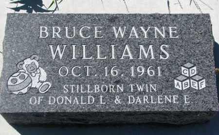 WILLIAMS, BRUCE WAYNE - Bon Homme County, South Dakota | BRUCE WAYNE WILLIAMS - South Dakota Gravestone Photos