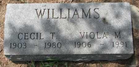 WILLIAMS, VIOLA M. - Bon Homme County, South Dakota | VIOLA M. WILLIAMS - South Dakota Gravestone Photos