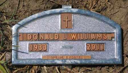 WILLIAMS, DONALD L. - Bon Homme County, South Dakota | DONALD L. WILLIAMS - South Dakota Gravestone Photos