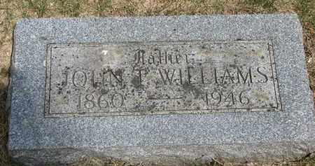 WILLIAMS, JOHN T. - Bon Homme County, South Dakota   JOHN T. WILLIAMS - South Dakota Gravestone Photos