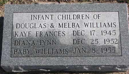WILLIAMS, KAYE FRANCES - Bon Homme County, South Dakota | KAYE FRANCES WILLIAMS - South Dakota Gravestone Photos