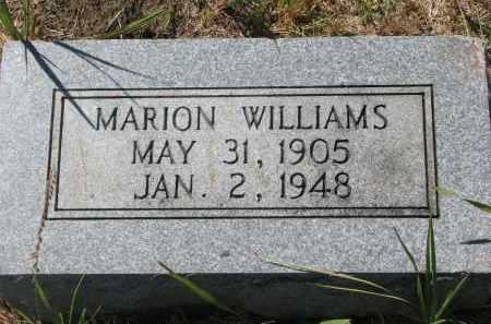 WILLIAMS, MARION - Bon Homme County, South Dakota | MARION WILLIAMS - South Dakota Gravestone Photos