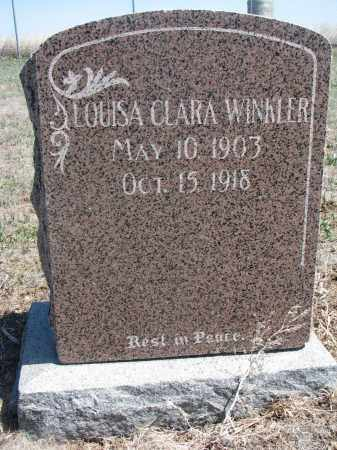 WINKLER, LOUISA CLARA - Bon Homme County, South Dakota   LOUISA CLARA WINKLER - South Dakota Gravestone Photos