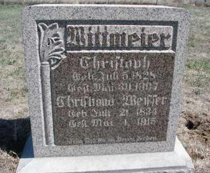 WITTMEIER, CHRISTOPH - Bon Homme County, South Dakota | CHRISTOPH WITTMEIER - South Dakota Gravestone Photos
