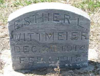 WITTMEIER, ESTHER L. - Bon Homme County, South Dakota   ESTHER L. WITTMEIER - South Dakota Gravestone Photos