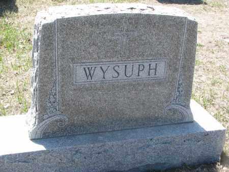 WYSUPH, PLOT STONE - Bon Homme County, South Dakota | PLOT STONE WYSUPH - South Dakota Gravestone Photos