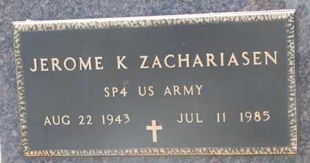 ZACHARIASEN, JEROME K. - Bon Homme County, South Dakota | JEROME K. ZACHARIASEN - South Dakota Gravestone Photos