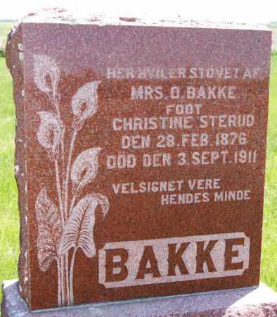 BAKKE, CHRISTINE - Brookings County, South Dakota   CHRISTINE BAKKE - South Dakota Gravestone Photos
