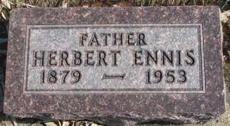 ENNIS, HERBERT - Brookings County, South Dakota   HERBERT ENNIS - South Dakota Gravestone Photos