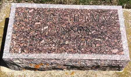 HANSON, ALBERT HERMAN - Brookings County, South Dakota | ALBERT HERMAN HANSON - South Dakota Gravestone Photos