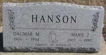 HANSON, HANS J. - Brookings County, South Dakota   HANS J. HANSON - South Dakota Gravestone Photos