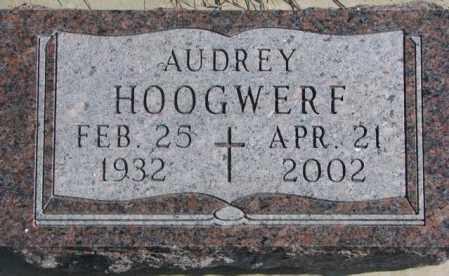 HOOGWERF, AUDREY - Brookings County, South Dakota   AUDREY HOOGWERF - South Dakota Gravestone Photos