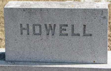 HOWELL, PLOT - Brookings County, South Dakota   PLOT HOWELL - South Dakota Gravestone Photos