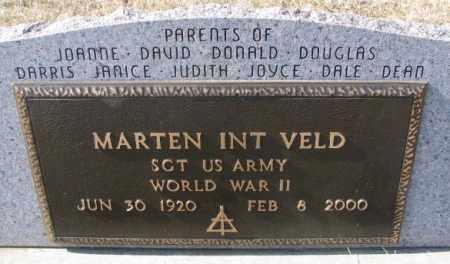 INT VELD, MARTEN (WW II) - Brookings County, South Dakota   MARTEN (WW II) INT VELD - South Dakota Gravestone Photos
