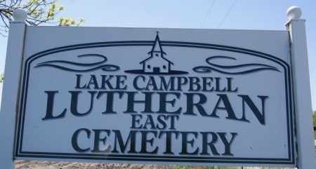 *LAKE CAMPBELL LUTHERAN EAST, CEMETERY SIGN - Brookings County, South Dakota | CEMETERY SIGN *LAKE CAMPBELL LUTHERAN EAST - South Dakota Gravestone Photos