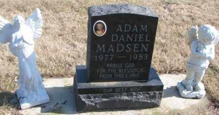 MADSEN, ADAM DANIEL - Brookings County, South Dakota | ADAM DANIEL MADSEN - South Dakota Gravestone Photos